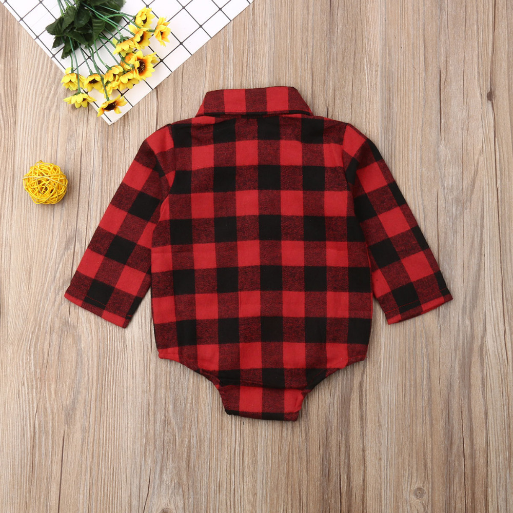 H14d74e2613744a14955c794c02cbbe22t Pudcoco Baby Girls And Boys Unisex Clothes Christmas Plaid Rompers Newborn Baby 0-18 Monthes Fits One Piece Suit Cartoon Elk New