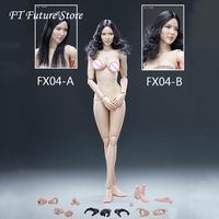 VERYCOOL FX04A/FX04B 1/6 Asian Female Head Carving with Straight Hair & Wavy Hair + VC 3.0 Body Sets with Soft Breast Body