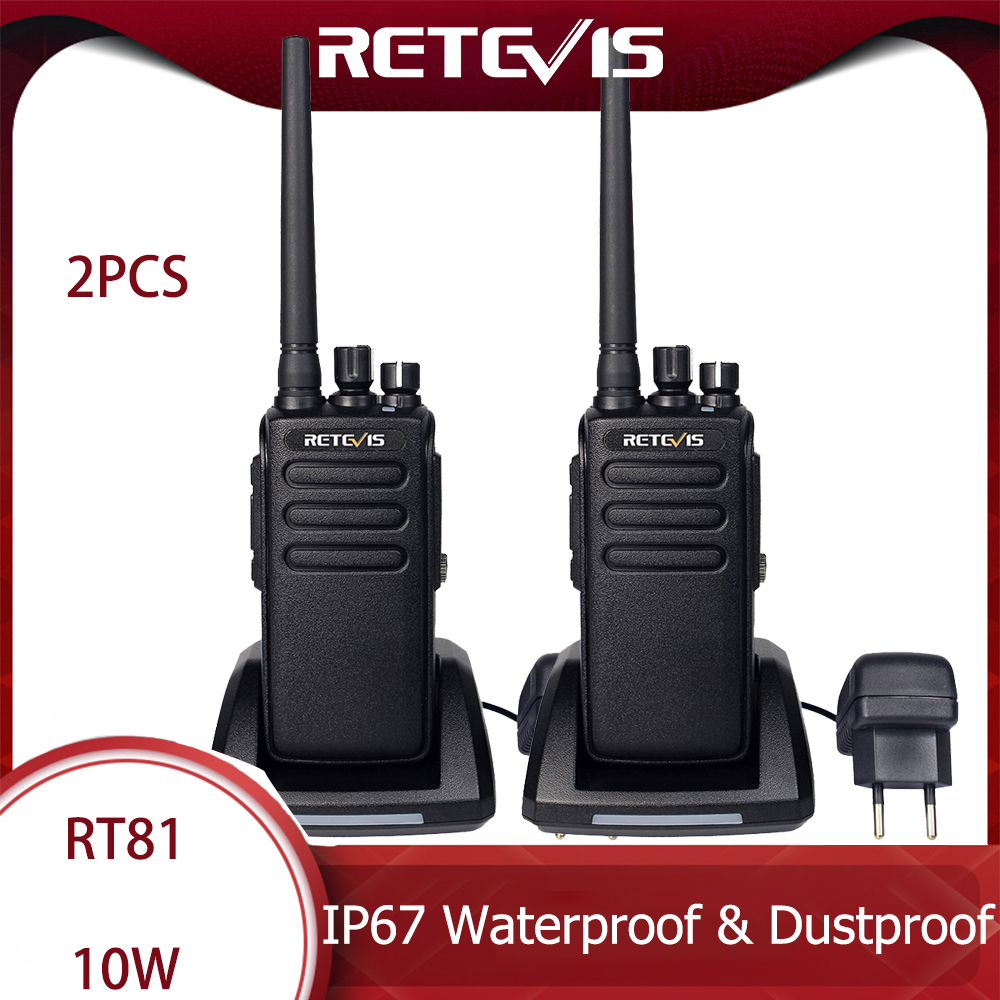 DMR Radio Digital Walkie Talkie Waterproof IP67 Retevis RT81 2 Pcs UHF Two-way Radio Transceiver For Farm Factory Warehouse