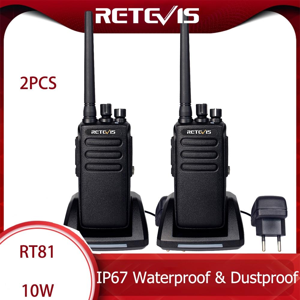 DMR Radio Digital Walkie Talkie Waterproof IP67 Retevis RT81 2 Pcs UHF Two-way Radio Transceiver For Farm Factory Warehouse