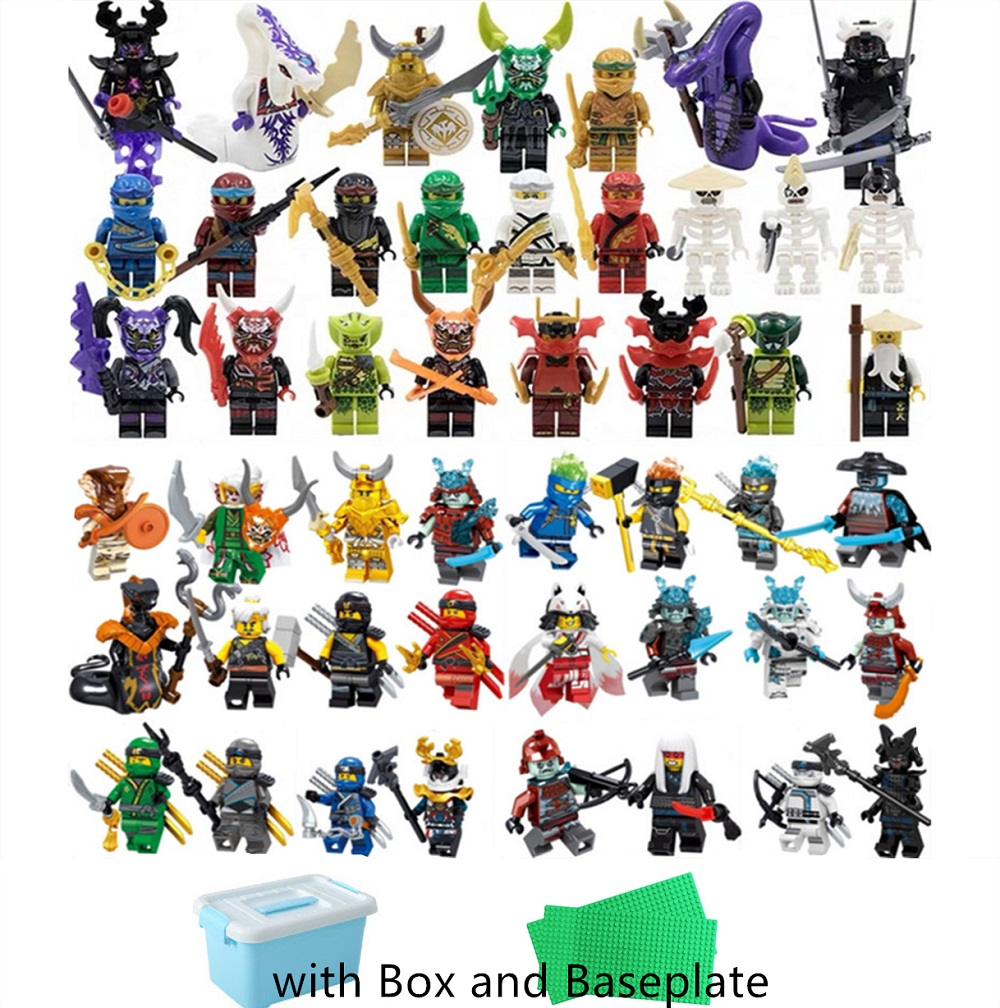 48/40/32/24pcs Legoing Ninjagoing Figures With Box Master Wu Lioyd Garmadon Snakes Jay Kai Nya Ninja Set Best Gift For Kids