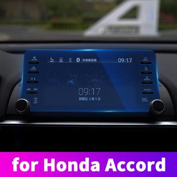 For 10th Honda Accord 2018 2019 Instrument panel navigation display tempered protective film control car GPS screen stickers image