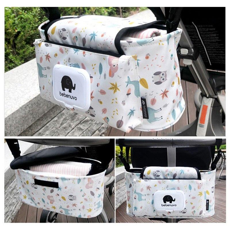 Baby Windel Tasche für Kinderwagen Taschen Organizer Große Kapazität Druck Reise Mama Windel Mutterschaft Pflege Ändern Leinwand Tasche
