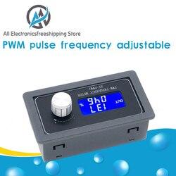 Signal Generator PWM Pulse Frequency Duty Cycle Adjustable Module LCD Display 1Hz-150Khz 3.3V-30V PWM Board Module Hand knob