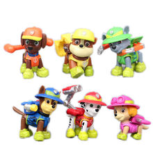 6pcs/Set Paw Patrol Toys Set Dog 7CM Jungle Chase Skye Action Figures rubber Doll Model Decoration Toy For Children Gift