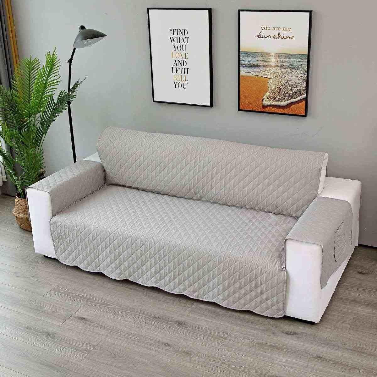 Funda de sofá abrigo de sofá impermeable resistente al desgaste almohadilla de sofá para mascotas sofá 1/2/3 asiento de mantas a prueba de mordidas con bolsillo
