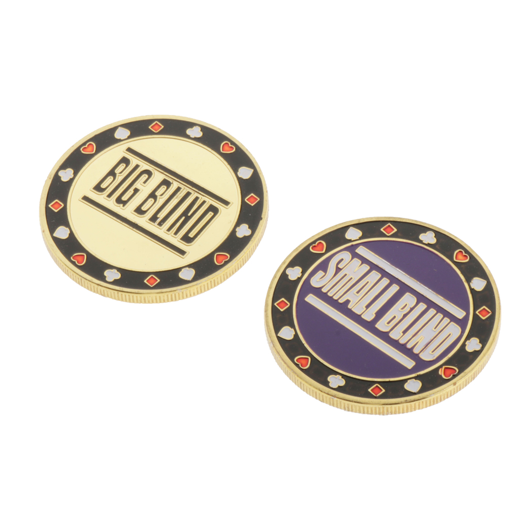 Metal Dealer Button Chips Blind Big/Small Texas Holdem Casino Roulette Game