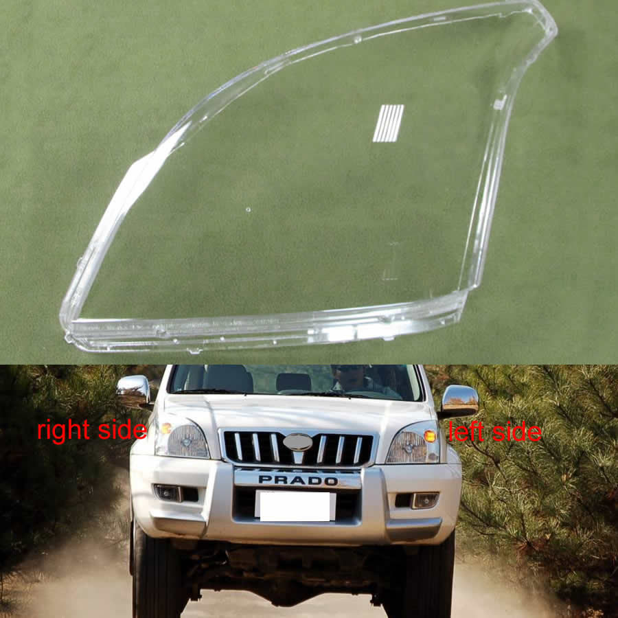 For Toyota Prado 2003 2004 2005 2006 2007 2008 2009 Headlamps Transparent Lampshades Shell Masks Headlight Shell Cover Lens