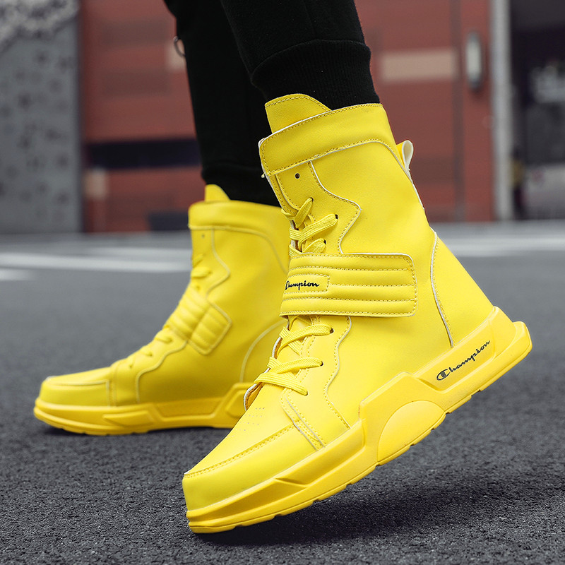 Korean Version High-top Shoes Martin Boots Tide Men'sCasual Shoes Non-slip Outdoor Leisure Sneakers Men's Fashion Sneakers