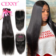 Extensión de cabello humano con cierre de encaje 5X5, 3/4 mechones, pelo virgen con cierre, cuerpo ondulado, 100%, 28, 32, 36, 40 pulgadas