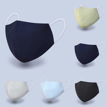 #40 Pm2.5 Outdoor Washable Reuse Face Cotton Linen Protection Printing Mouth Mask Anti-pollution Facemask Protection Masque