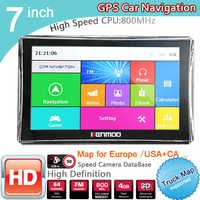 New 7 inch HD Car GPS Navigation 800M/ FM/8GB/DDR3 2019 Maps For Russia/Belarus/ Europe/USA+Canada TRUCK Navi Camper Caravan