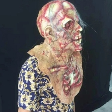New Arrival Halloween Horror Latex Zombie Mask Dress Up Props for Festive Party Supplies Lifelike Creative Products