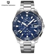 PAGANI DESIGN Stainless Steel Men Watches Luxury Brand Chronograph Sport Busines