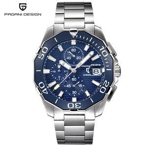 PAGANI DESIGN en acier inoxydable hommes montres marque de luxe chronographe Sport affaires étanche Quartz montre-bracelet hommes horloge mâle