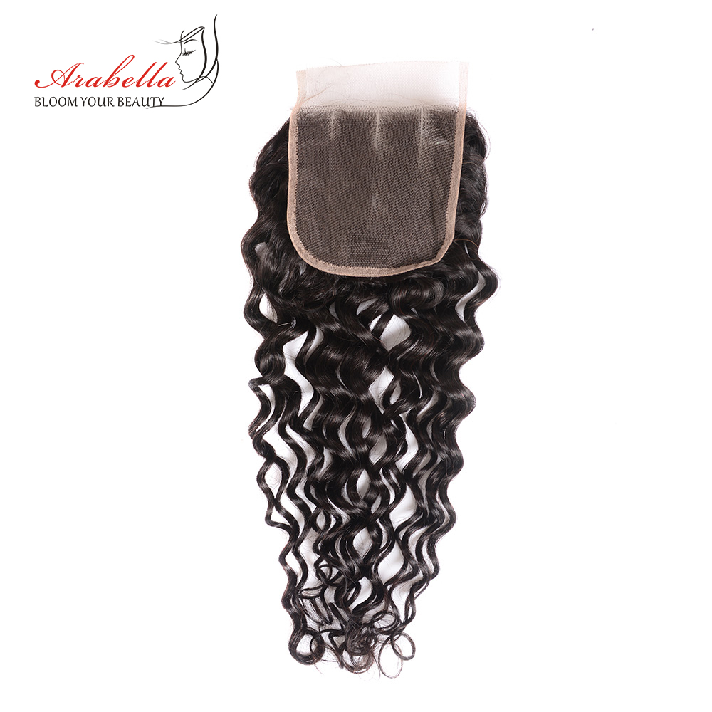 Water Wave Bundles With Closure Arabella  Bundles With Pre Plucked Lace Closure 3 Bundles With Closure 5