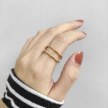 Минималистичные бамбуковые двойные Многослойные кольца для женщин