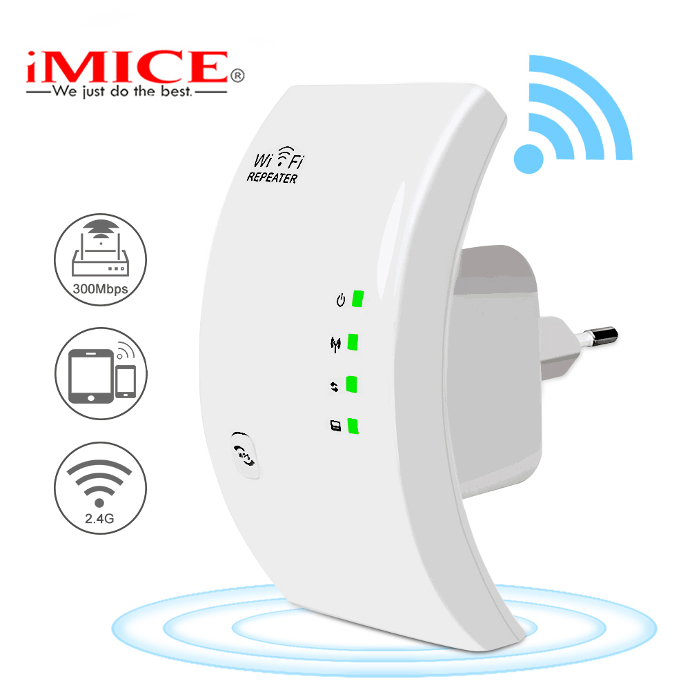 Wireless Wifi Repeater Extender Wifi-Amplifier Long-Signal-Range 300mbps 1 title=