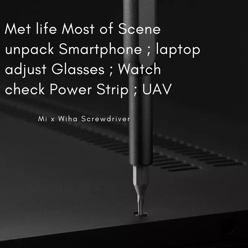 Tools : Mi Original Mijia Wiha Daily Use Screw Smart Driver Kit 24 Precision Magnetic Bits Alluminum Box DIY Screw Driver Smart Home