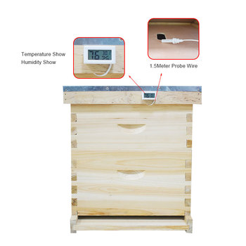 Pszczelarstwo ula Mini wygodny cyfrowy termometr higrometrowy LCD z czujnikiem monitorującym wyświetlacz detektor wilgotności tanie i dobre opinie BT43-5