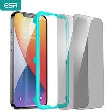 Protecteur d'écran ESR, couverture complète en verre trempé Anti-reflet/espion pour iPhone 12 Mini/12 Pro Max