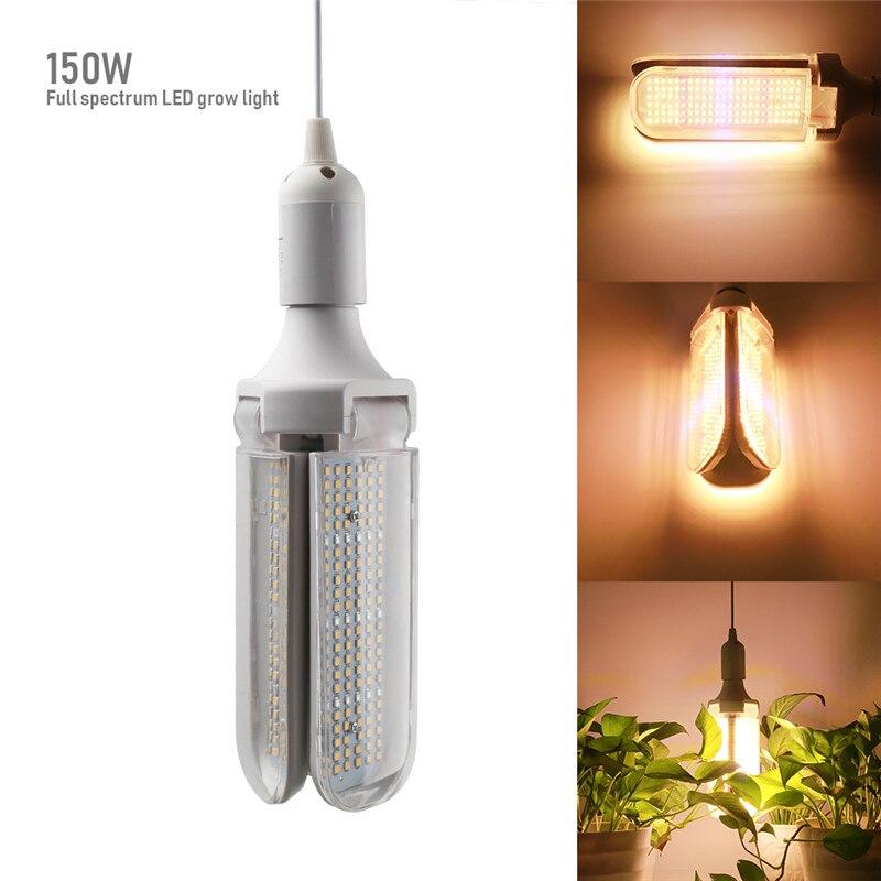 Full Spectrum 150W LED Grow Light  E27 Bulb Lamp 360° Illuminate Phytolamp For Indoor Greenhouse Plant Flower Vegs Seed Tent Box