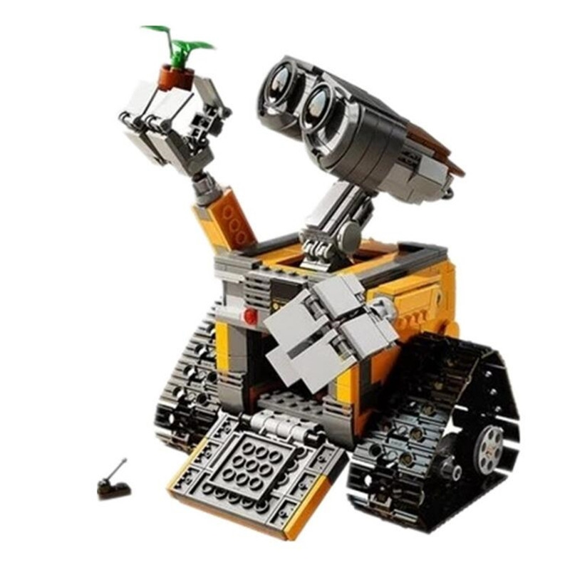 Idea Robot WALL E Building Blocks Bricks Blocks Toys for Children WALL-E Block Birthday Gifts Compatible with <font><b>Legoinglys</b></font> Technic image