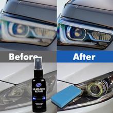 Reflektor samochodowy środek polerujący narzędzie do usuwania rys naprawa płynu odnowa reflektorów polski naprawa samochodów płyn akcesoria samochodowe tanie tanio CN (pochodzenie) 50ml Dropshipping automotive headlight repair fluid About 10 20 30 50ml
