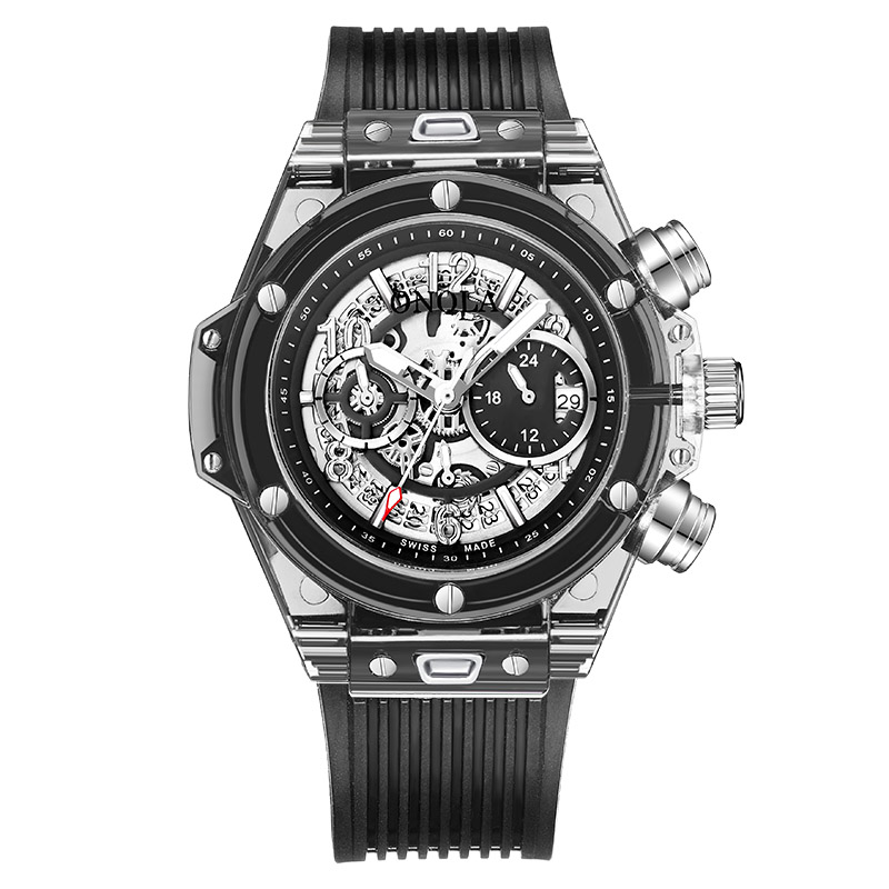 Male Clock Wrist-Watch Chronograph Military Relogio Masculino Mens Luxury Quartz Sport