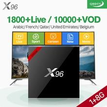 X96W Arabic IPTV Android 7.1.2 tv box Amlogic S905W Quad Core H.265 WiFi IPTV QHDTV France Arabic Belgium Netherland IP TV Box недорого