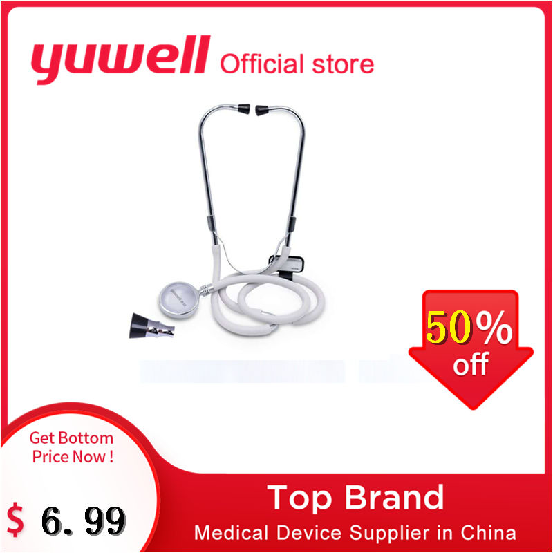 Yuwell Professional Stethoscope Multifunctional Head Cardiology Rate Lung Medical Device Fetal Heart Rate Health Care Monitor
