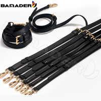 BAMADER Brand High Quality Leather Bag Strap Black 110-130CM Luxury Adjustable Fashion Shoulder Strap Bag Accessori
