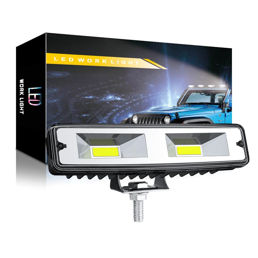 2X 18W COB 16LED Work Light Bulb Spot Beam Bar Car SUV Waterproof Off Road Driving Fog Lamp For Jeep BMW