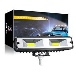 2x18W COB 16led światło robocze żarówka Spot Beam Bar samochód SUV wodoodporna Off Road jazdy lampa przeciwmgielna dla Jeep BMW