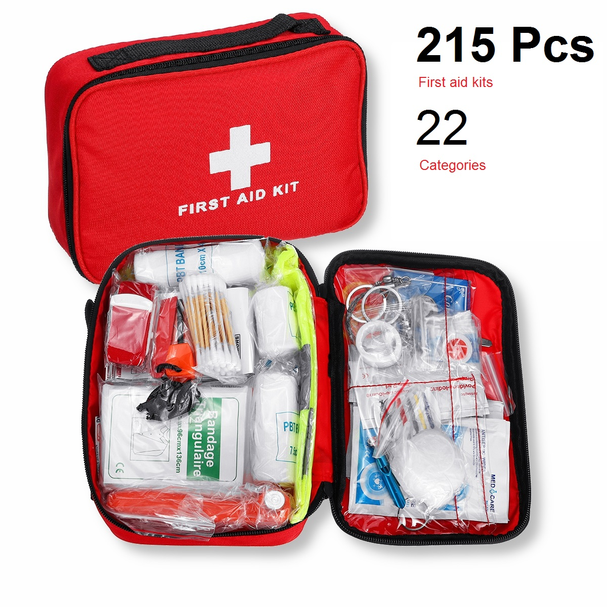 Mini Outdoor First Aid Kit 22 Categories 215pcs Portable EMergency Kits Travel Package For Medicines Outdoor Camping Medical Bag