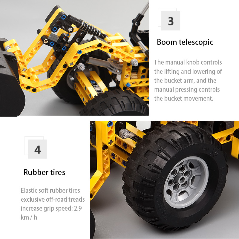 Cada C51018 RC Wheel Loader Truck Car Building Blocks