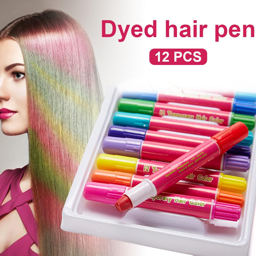 12 Color Hair Chalk Temporary Washable Hair Dye For Kids And Teen Use For Christmas Cosplay Theater Halloween Makeup Creams Gels Lotions Aliexpress