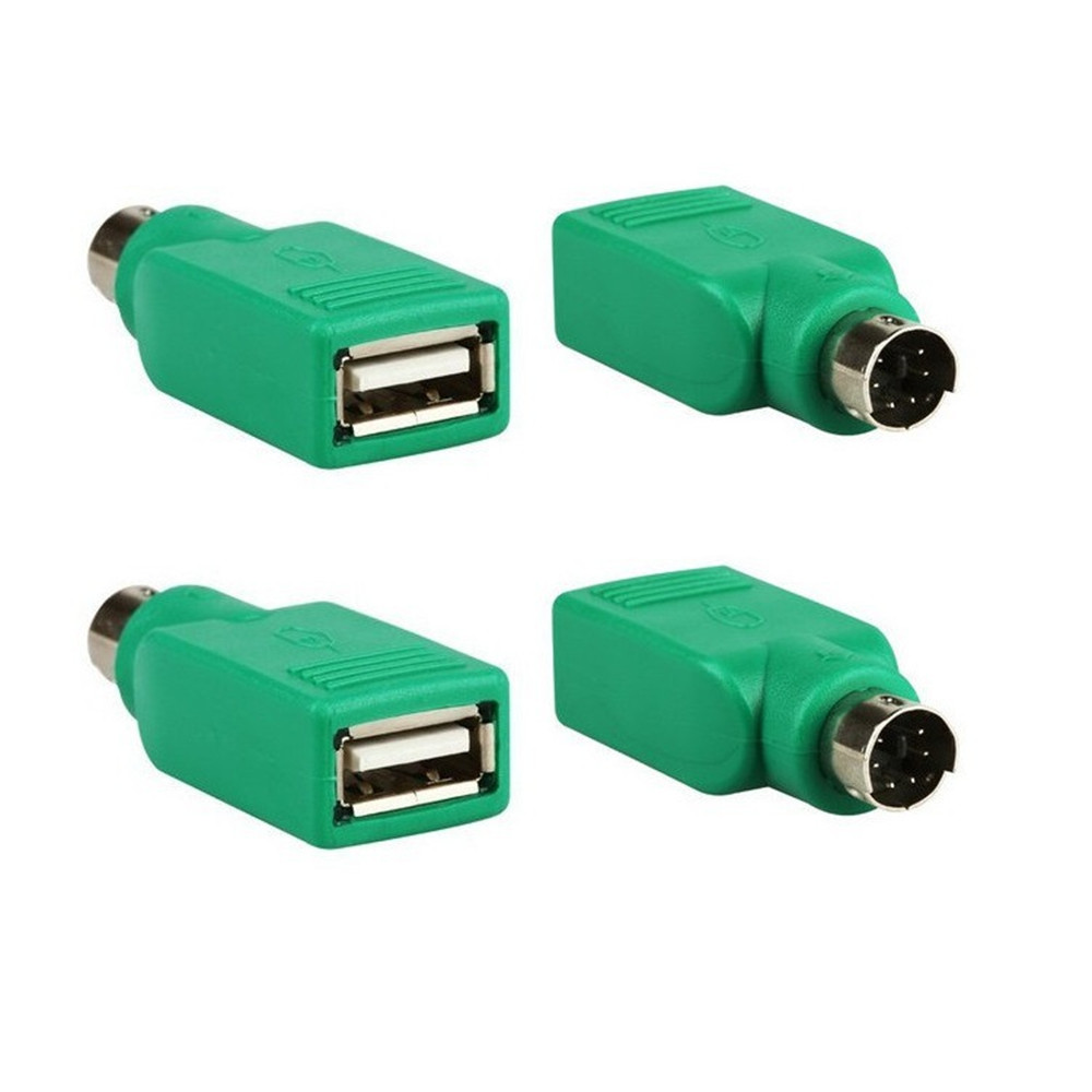 USB Female To PS2 PS/2 Male Adapter Converter Keyboard Mouse Mice Adapter USB Type A Female To PS/2 6pin Mini Din Male