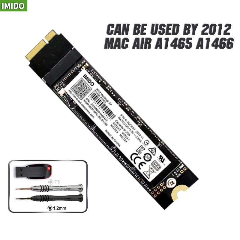 Новая 64 ГБ, 128 ГБ 256 512 1 ТБ 2 ТБ SSD для 2012 Macbook Air A1465 A1466 Md231 Md232 Md223 Md224 твердотельный накопитель MAC SSD