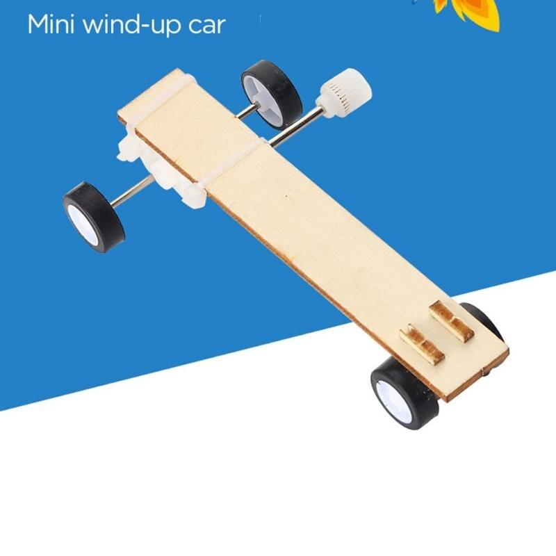 DIY Science Experiment Model Kit Clockwork Car Materials Creative Educational Craft Toys Assemble Projects Teaching Equipment