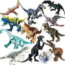 Юрский Мир 2 строительные блоки Legoings динозавры цифры кирпичи Tyrannosaurus Rex Indominus Rex I-Rex собрать детские игрушки