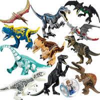 Jurajski świat 2 klocki Legoings dinozaury figurki cegły tyranozaur Rex Indominus Rex i-rex złożyć zabawki dla dzieci