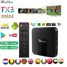 TX3 Mini unids/lote Smart TV Box Amlogic S905W 1,5 GHz Set-top 2,4 GHz WiFi Android TV Box 7,1 2GB 16GB reproductor multimedi