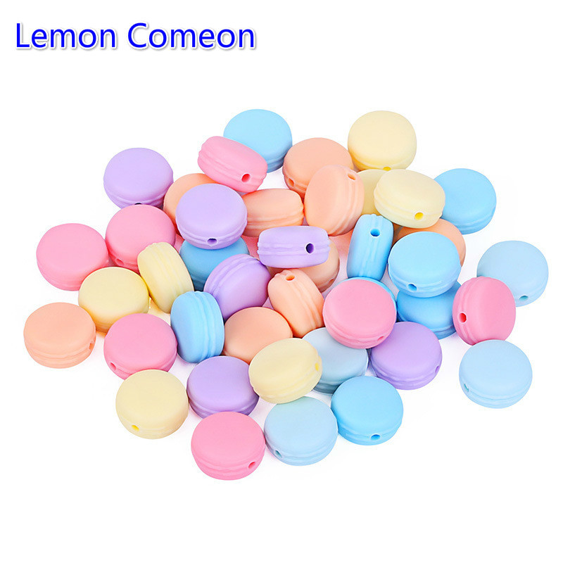 Lemon Comeon Multicolor Macaron Silicone Beads Teether Accessories Food Grade Teething Pacifier Dummy Making Molar Tooth 10PCS