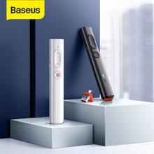 Baseus Wireless Presenter Puntatore Laser USB con Telecomando A Raggi Infrarossi di Controllo Presentatore Penna Per Il Proiettore PPT di Powerpoint Penna Scorrevole