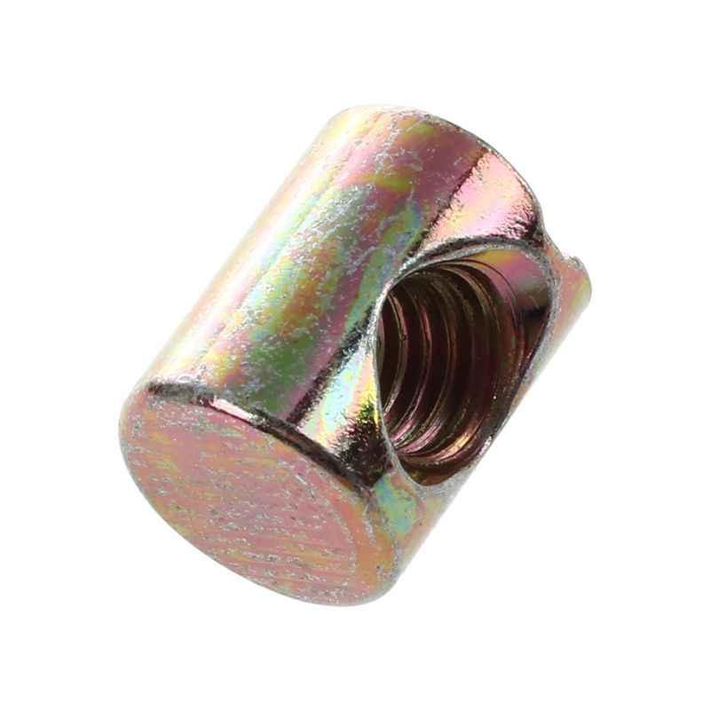 Tuerca cil/índrica para los muebles Tornillo ranurado M6 x 14mm largo Zp paquete de 10
