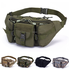 Tactical Camouflage Molle Waist Bag Multifunctional Waist Pack Military Pouch Camping Hiking Running Sports Bags tactical military fans molle pouch belt waist pack storage bag outdoor sports military storage bags