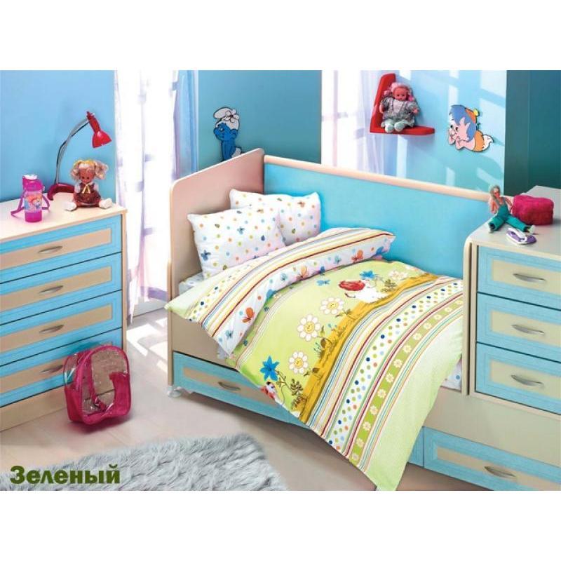Фото - Bedding Set for baby ALTINBASAK, GULUCUK, Green bedding set for baby altinbasak dream garden