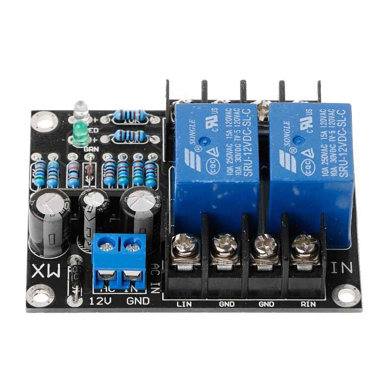 FUXU UPC1237 Dual Channel Speaker Protection Circuit Board DC 12-24V Boot Mute Delay