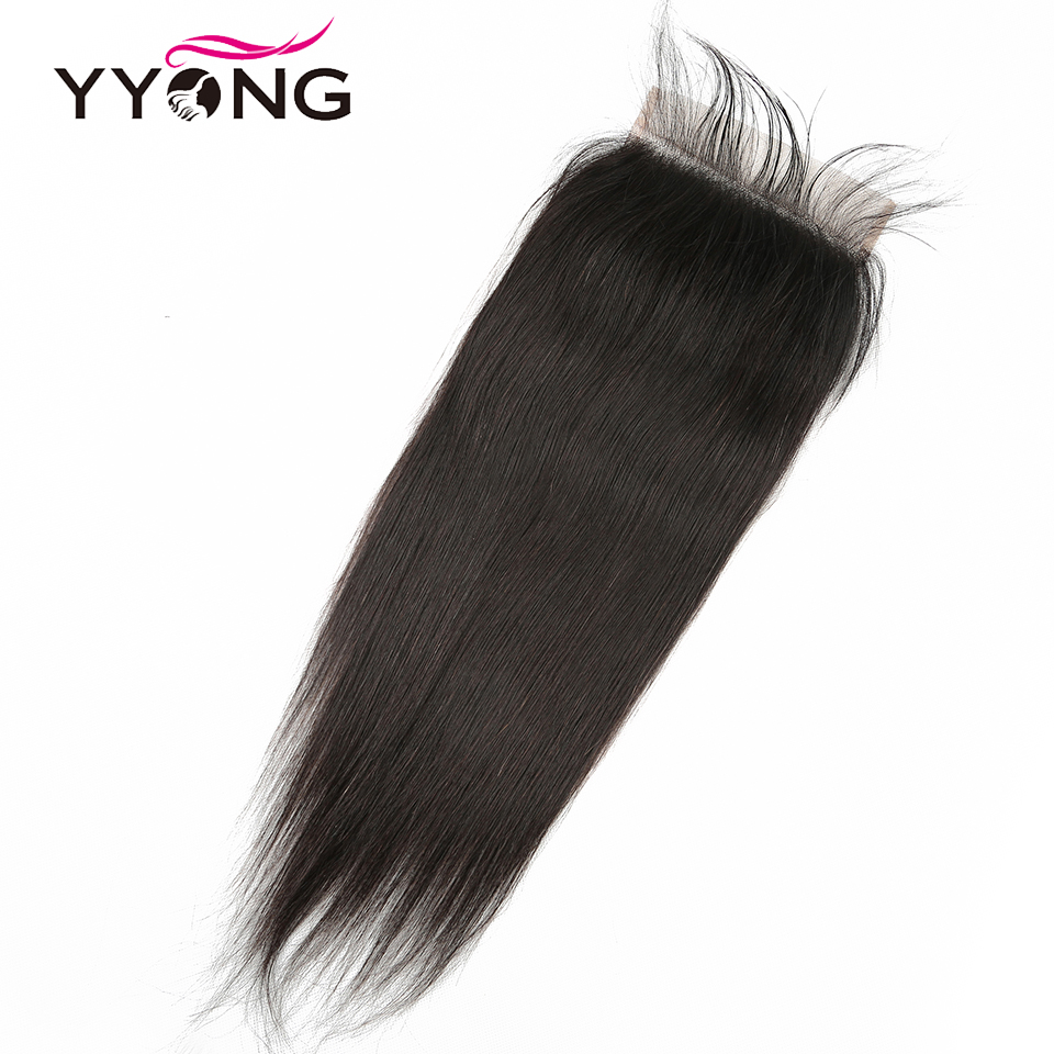 YYong Straight Hair Bundles With 6x6 Lace Closure     Bundles With Closure Hair  5